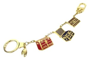 Louis Vuitton Authentic Louis Vuitton Multicolor Trunks Gold-Tone Bag Charm
