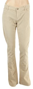Mother Corduroys Cotton Flare Leg Jeans-Light Wash