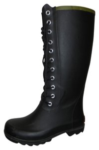 Other Rain Rubber Lace black Boots