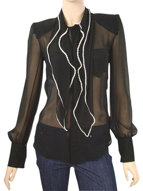 Preload https://item4.tradesy.com/images/jean-paul-gaultier-black-shirt-silk-pearl-trimmed-blouse-size-6-s-1089998-0-1.jpg?width=400&height=650