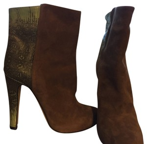 Malone Souliers Light brown suede with green lizard Boots