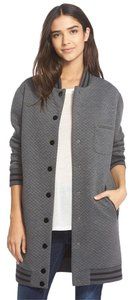 Sam Edelman Gray Quilted Letterman Grey Jacket