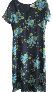 navy, floral Maxi Dress by Kathie Lee Collection