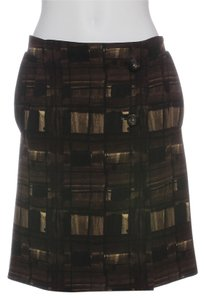 Prada Pr.eh0401.18 Brown Olive Wool Skirt
