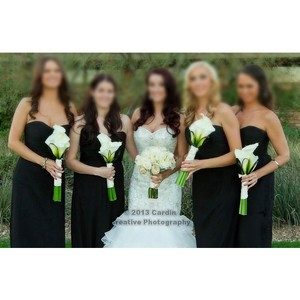 Amsale Black G629c Bridesmaid Dress