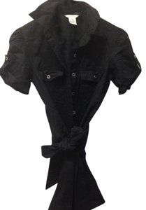 Maurices Button Down Shirt Black