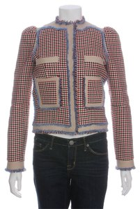 Balenciaga Bg.eh0506.09 Red Blue Plaid Jacket