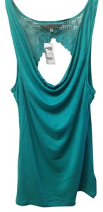 Charlotte Russe Lace Drape Top Blue