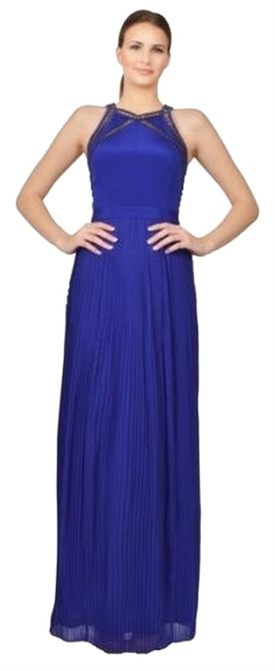 Rebecca Taylor Blue Gown Nightout Night Out Long Party Studded Halter Dress