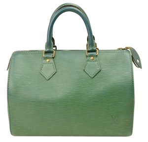 Louis Vuitton Speedy 25 Epi Leather Satchel in green