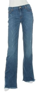 Roberto Cavalli Rc.eh1219.15 Distressed Embroidered Boot Cut Jeans