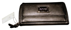 Kenneth Cole Reaction Faux Leather Classic Wallet Black Clutch