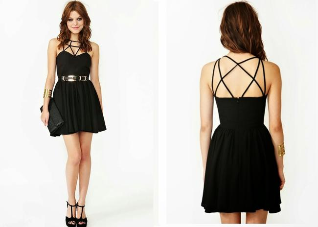 Nasty Gal Date Straps Little Sexy Dress
