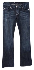 Rock & Republic & Dark Denim Size 26 Boot Cut Jeans-Dark Rinse