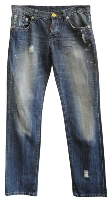 DSquared Button-fly Distressed Boyfriend Cut Jeans-Distressed