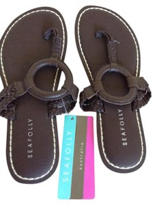 SeaFolly chocolate Flats