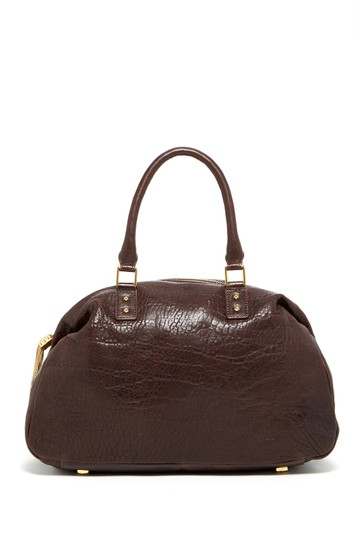 Monica Chiang Leather Gold Hardware Satchel in BROWN Image 2