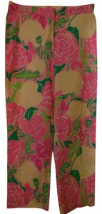 Lilly Pulitzer Pants Capris pink/green