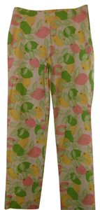 Lilly Pulitzer Straight Pants white/green