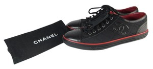 Chanel Leather Sneakers Cc Logo Athletic