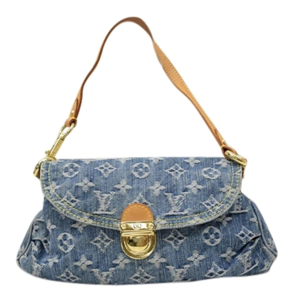 6c36b5cd832e Louis Vuitton Pleaty Mini Monogram Denim Handbag Satchel - Tradesy