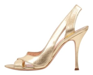 Alexander McQueen Gold Pumps