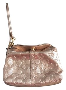 Coach Wristlet in Metallic Pink