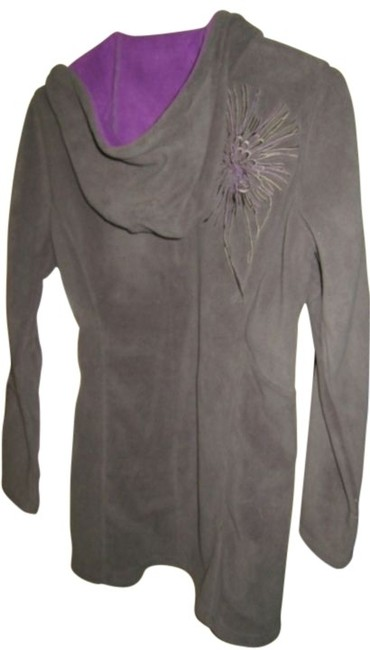 Athleta Fleece Microfleece Workout Embroidered Jacket