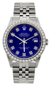 Rolex MEN'S ROLEX DATEJUST S/S DIAMOND WATCH