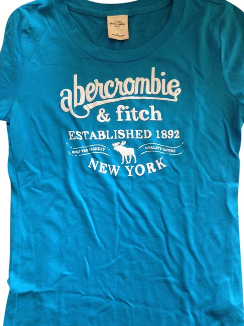 Abercrombie fitch casual summer t shirt blue for Abercrombie and fitch t shirts online shopping
