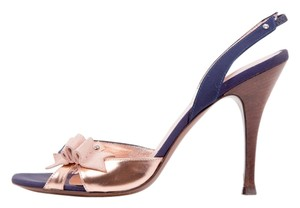 Fendi Navy / Rose Gold / Pink Pumps