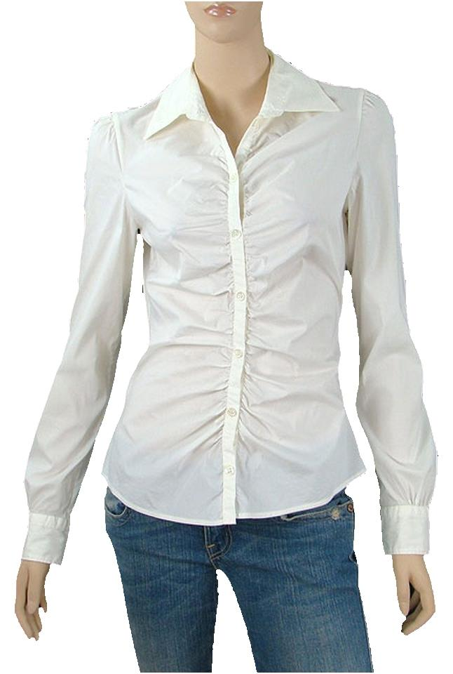Moschino White Cheap & Chic Shirt - Cream Stretch Cotton Shirt ...