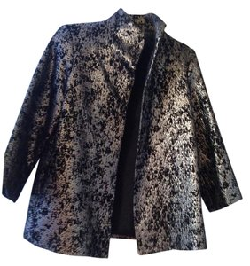 Jones New York Black and silver matalic Blazer