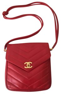 Chanel Vintage Red Messenger Bag