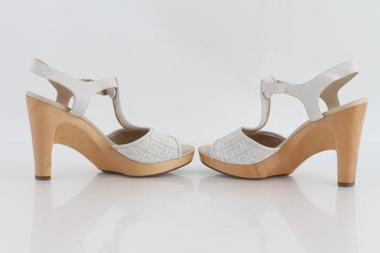 Givenchy Off White Ankle Strap Peep Toe Chunky Heel Beige Platforms Image 8