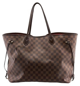 Louis Vuitton Lv Neverfull Gm Damier Ebene Tote in Brown