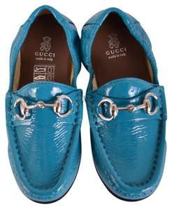Gucci Baby Loafers Turquoise Flats