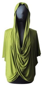 short dress Lime Green Convertible Hooded Tunic Top on Tradesy