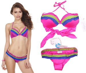Beach Bunny Flirty Push-Up Bikini L top/M Bottom