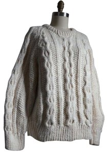 Other V Neck Gold Large Nwt Turtleneck Fisherman Cable Cardigan Sweater