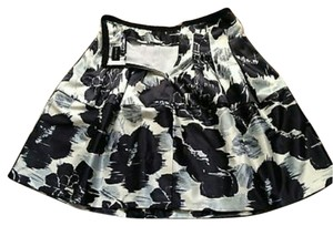The Limited Black Grey Skirt Black/forest green/off white
