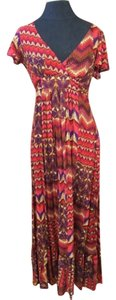 Red, purple, gold Maxi Dress by Forever 21