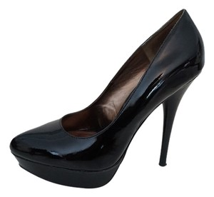 Steve Madden Pantene Leather Pumps Black Platforms