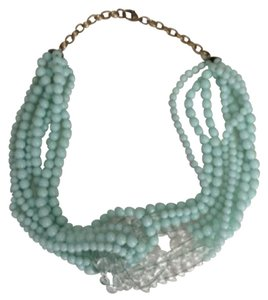 J.Crew Beaded and Bright; Aqua J. Crew Necklace; Great Pop of Color!