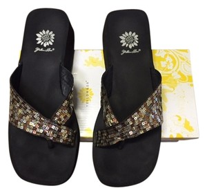 Yellow Box Bronze Sandals