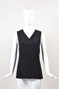 Marni White Silk Crepe Top Black