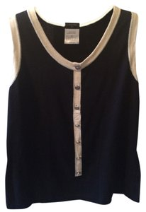 Chanel Classic Top Navy and Cream