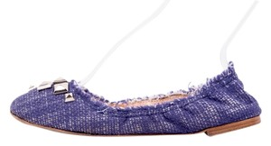 Marc Jacobs Blue Tweed Flats