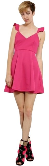 Lovely Day short dress Pink Ruffled Strap A-line on Tradesy