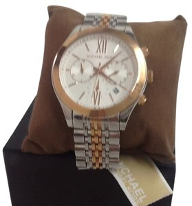 Michael Kors Michael kors unisex stainless steel silver gold tone watch model #Mk5763 Nwt